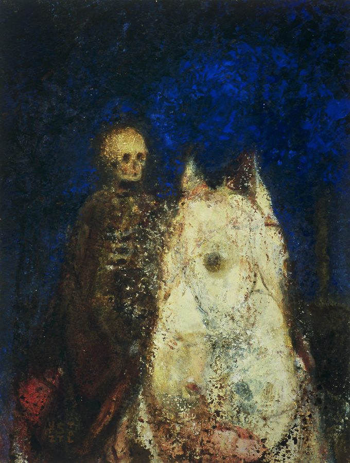 Pale Horse by Randall Stoltzfus   2004, Oil on panel, 10 by 7.5 inches.