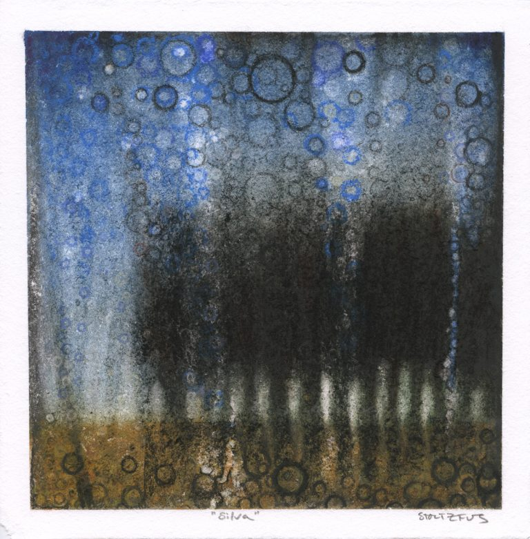"""""""Silva"""" by Randall Stoltzfus, 2012, pigment on paper, 8.5 inches square"""