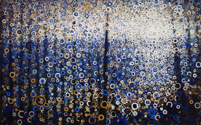 """""""Seagate"""" by Randall Stoltzfus, 2013, acrylic dispersion on canvas, 60 by 96 inches"""