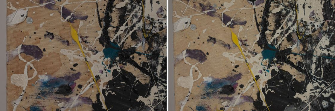Conservation of discolored cotton canvas in Jackson Pollock's Number 1A