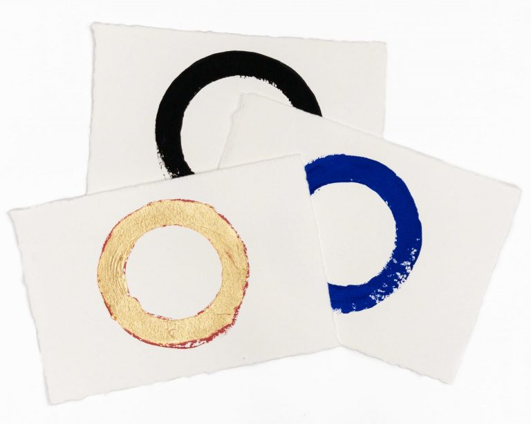 Imperfect Circles   Group of 3 hand-painted circles by Randall Stoltzfus