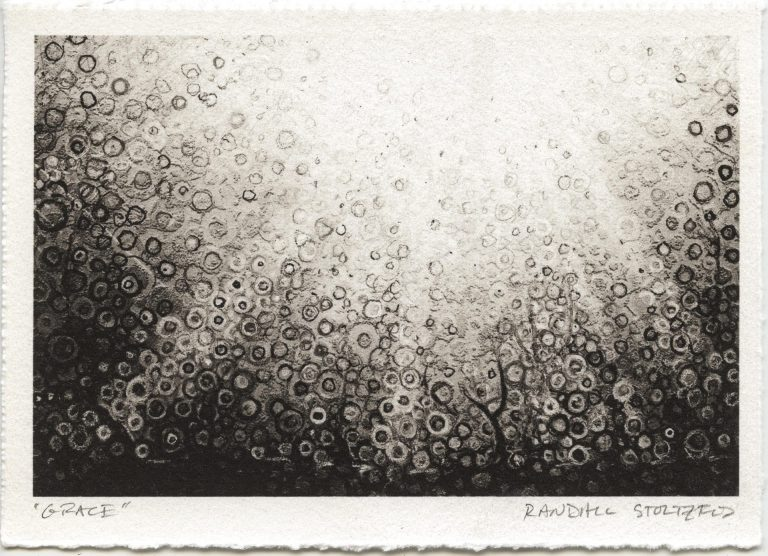 Monochrome print on paper 'Grace' signed by artist Randall Stoltzfus
