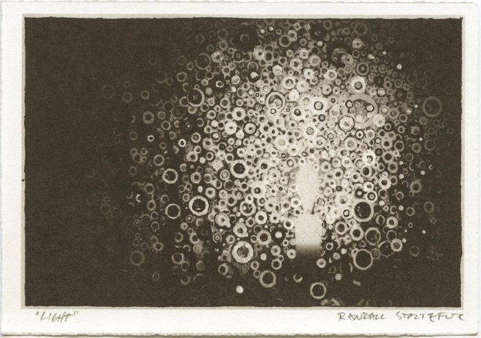 Monochrome print 'Light' signed by Randall Stoltzfus