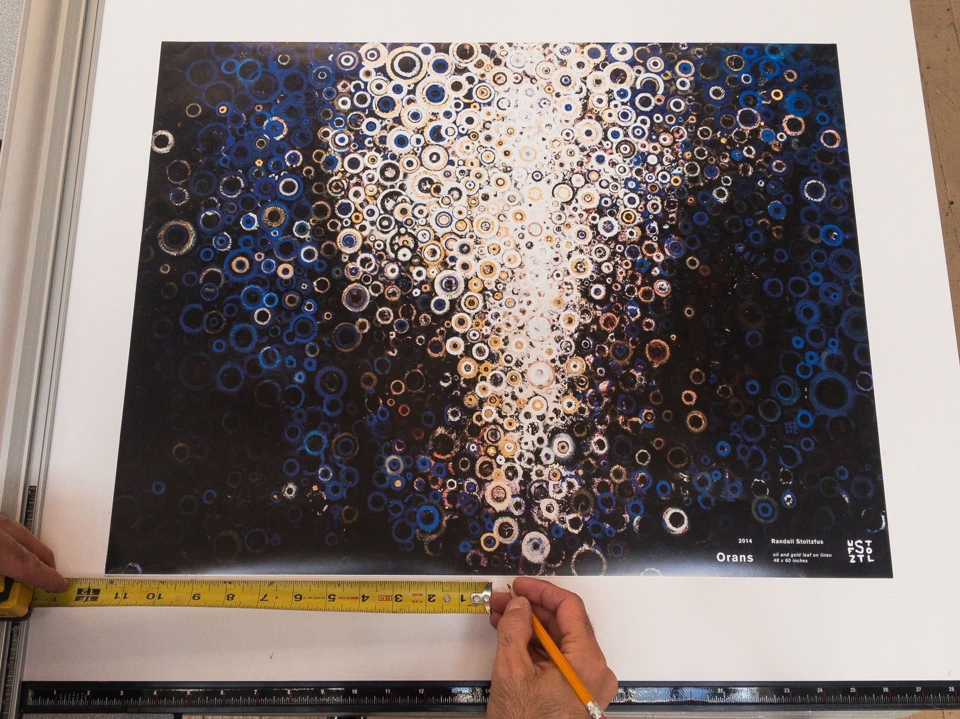 Snapshot from the studio of the proof: Orans Poster Pre-Sale