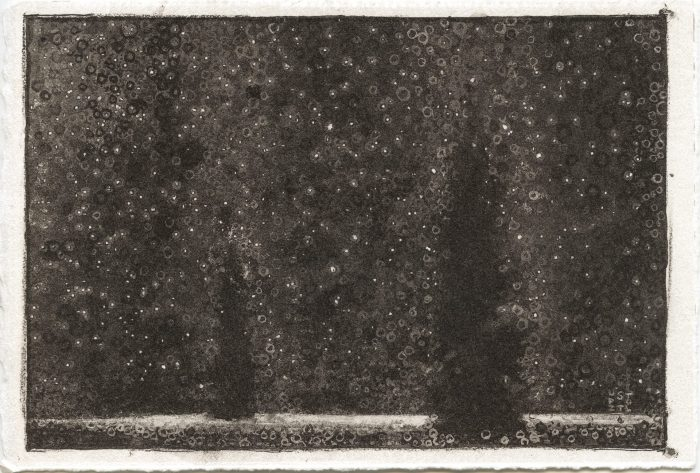 Monochrome print 'Peace' signed by Randall Stoltzfus