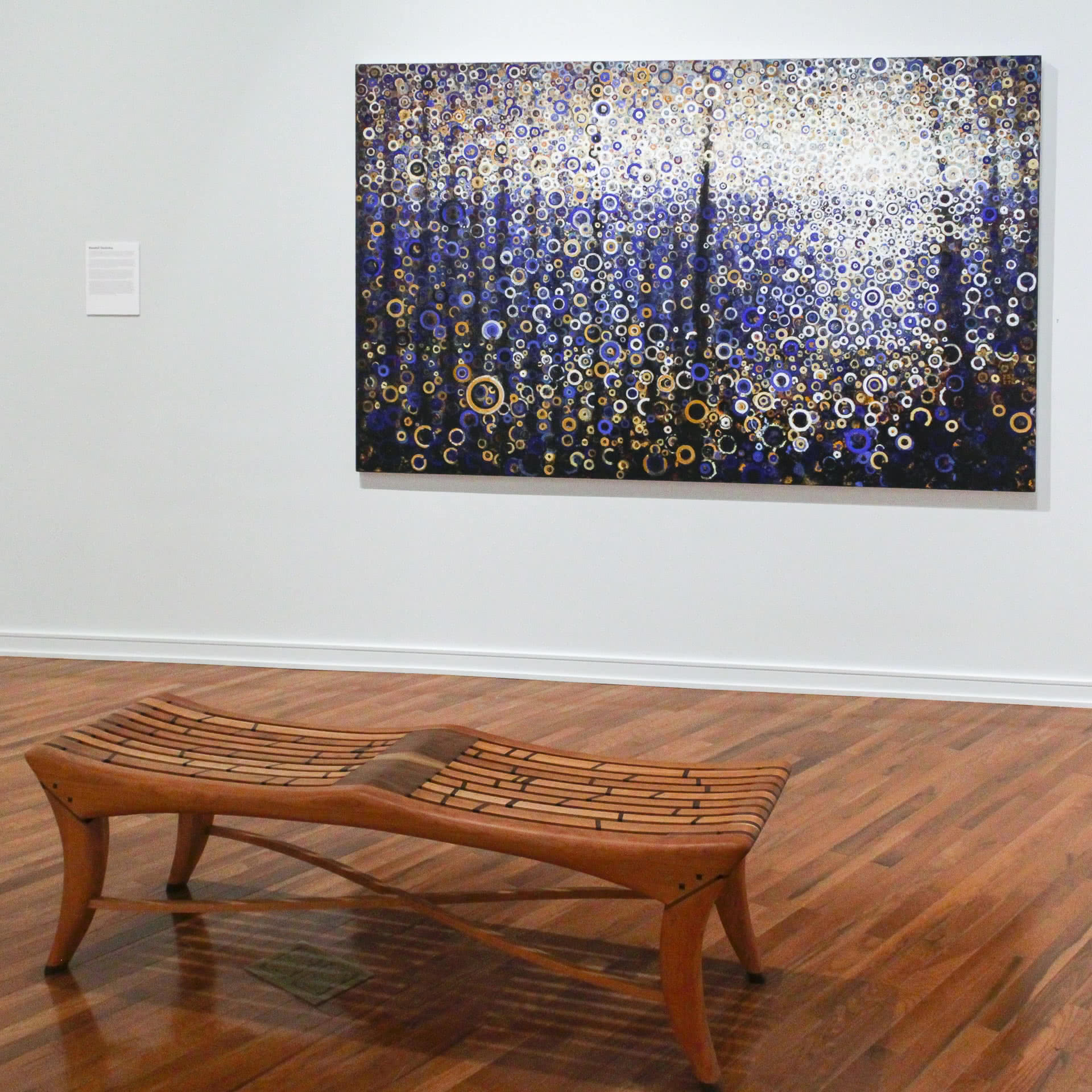 """These glimmering works — some actually made with gold and palladium leaf — represent the modernist tradition. Indeed, like Kandinsky and Rothko before him, Stoltzfus seeks to represent through form and color the immaterial essence of pure spirit.   """"Seagate"""" by Randall Stoltzfus"""
