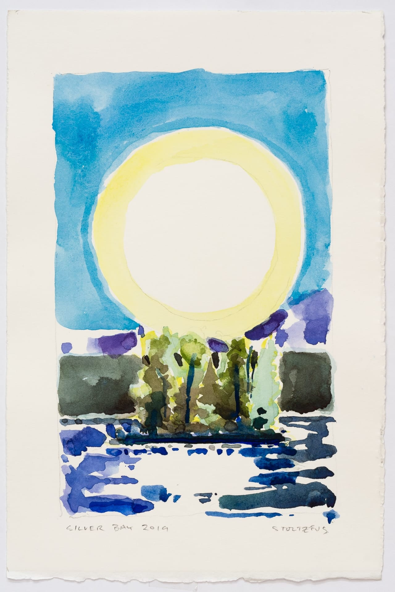 Silver Bay 2019-S7 by Randall Stoltzfus | Watercolor on paper, 11 by 7.5 inches
