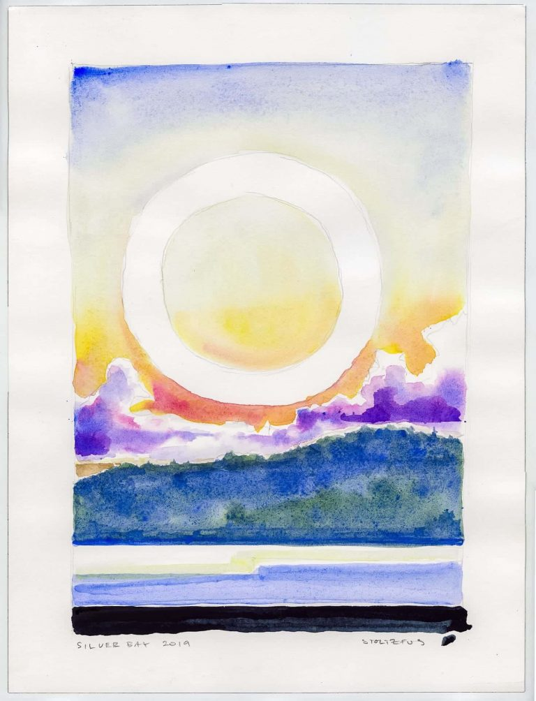 Sunrise over Lake George | Silver Bay 2019 L1 by Randall Stoltzfus | Watercolor on paper, 16 by 12 inches