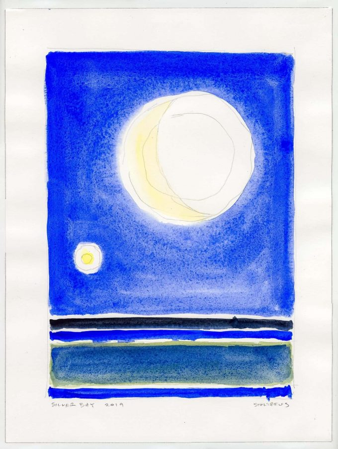 Early Morning Moonlight | Silver Bay 12019 L2 by Randall Stoltzfus