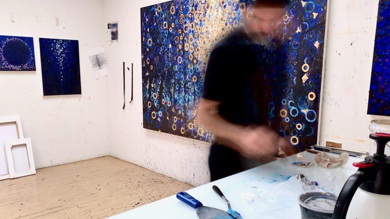 Randall Stoltzfus in the Studio